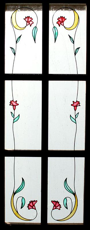 Vidrieras decoradas con resina cuarterones