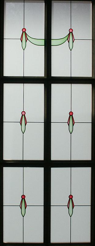 Vidrios decorados con resina cuarterones