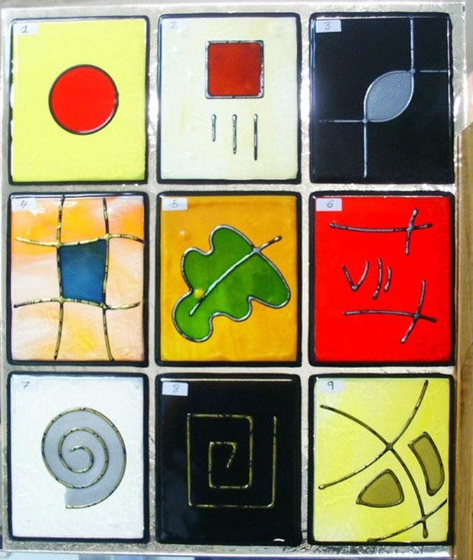 Diseños vidrios decorados con resina