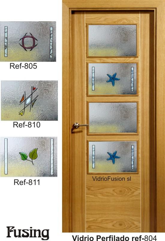 Cristales para puertas fusing perfilado cuarterones