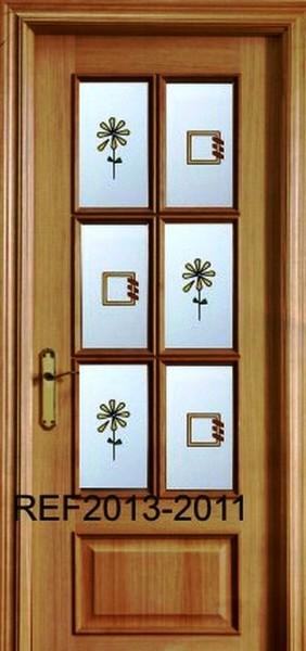 Cristales para puertas decorados con resina cuarterones