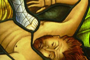 Fabricación de vidrios decorados con motivos religiosos