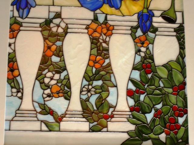 Fabricación de vidrieras de Tiffany