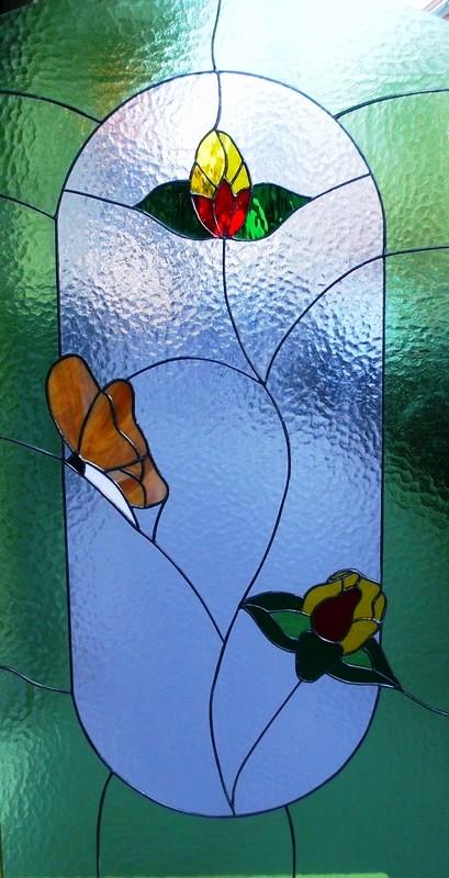 Diseño vidrieras técnica Tiffany