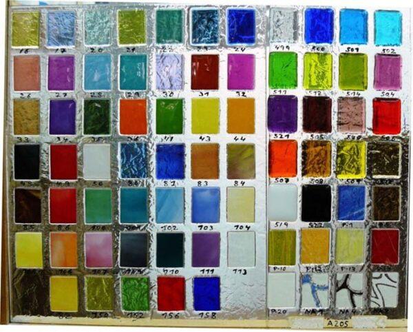 Cristales para puertas fusing muestrario colores