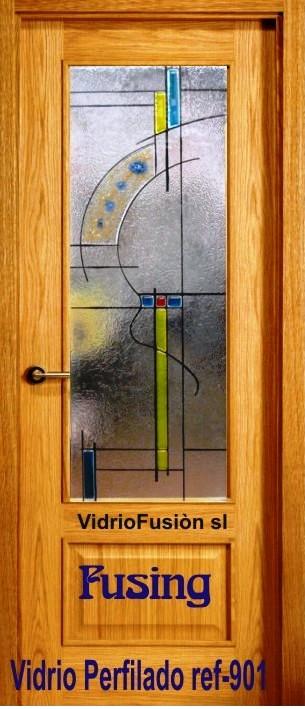 Cristales para puertas fusing perfilado