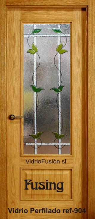 Puertas de paso con cristal fusing perfilado