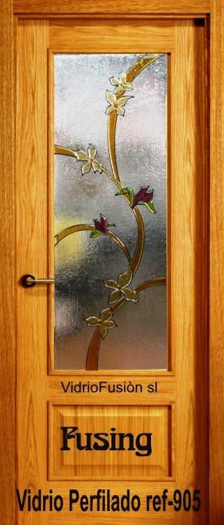 Vidrios decorados fusing perfilado