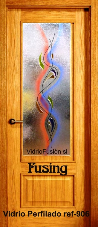 Vidrio decorado fusing perfilado