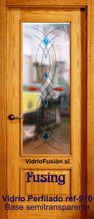 Puerta de paso cristal fusing