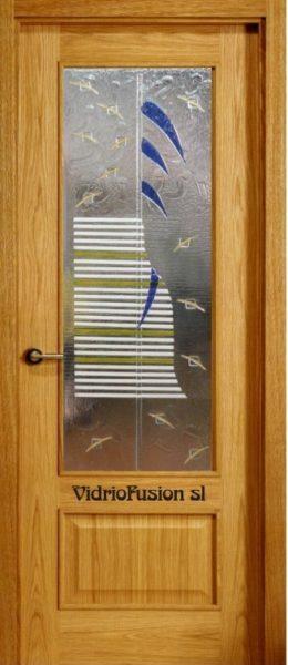 Puertas de paso con cristal fusing termoformado