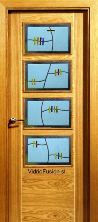 Cristales para puertas fusing termoformado cuarterones