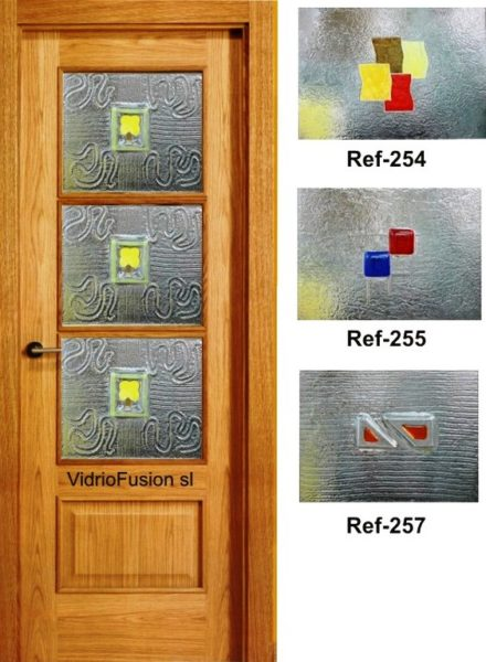 Puertas paso cristal fusing termoformado cuarterones