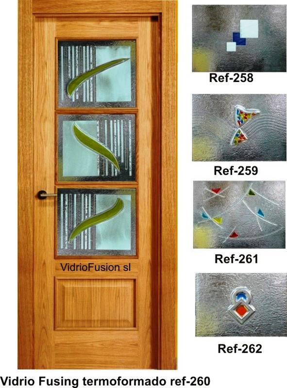 Vidrios decorados fusing termoformado cuarterones