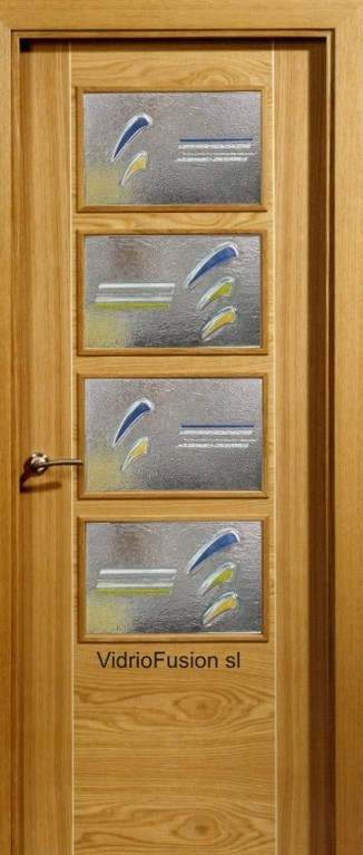 Cristal para puerta fusing termoformado cuarterones