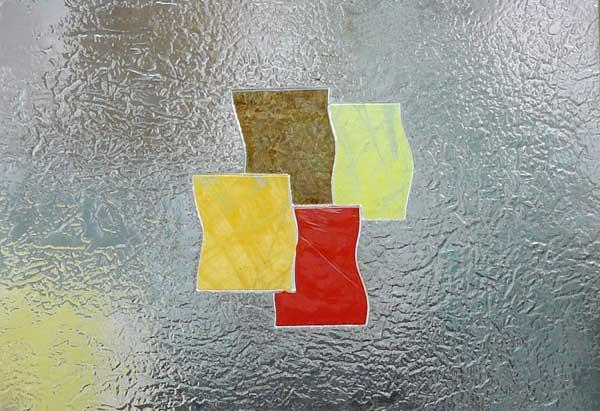 Cristal decorado fusing termoformado cuarterones