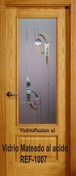 Puertas de paso con cristal resina transparente