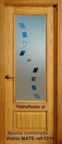 Vidrios decorados con resina transparente
