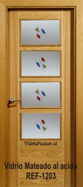 Puertas de paso con cristal resina transparente cuarterones