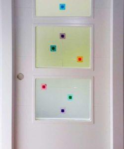 Cristales para puertas resina transparente cuarterones