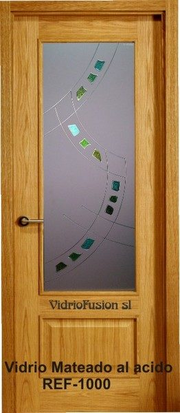 Vidrio decorado con resina transparente