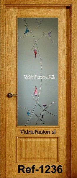 Cristales para puertas resina transparente completo