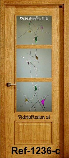 Puertas de paso resina cordón transparente cuarterones