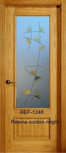 Vidrio decorado resina cordón transparente