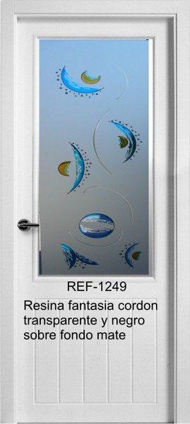 Cristal para puerta con resina transparente completo