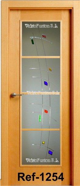 Cristales decorados con resina cordón transparente