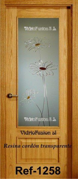 Vidrios decorados con resina cordón transparente