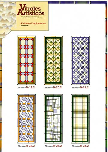 Modelos de vidrieras Plomo 4