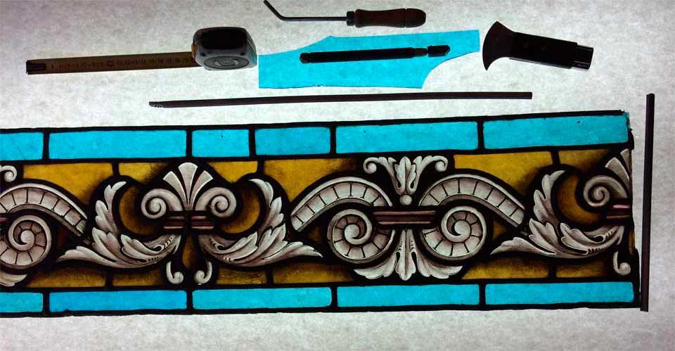 Reparación de vidrieras de plomo
